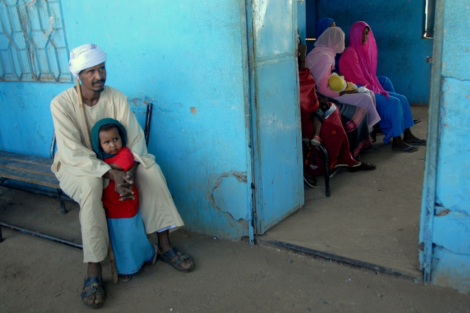 Waiting for a medical checkup, at Arab 1 village, Kassala State, Eastern Sudan